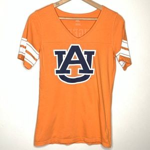Auburn Tigers Adidas V-Neck Short Sleeve Tee Sz Lg